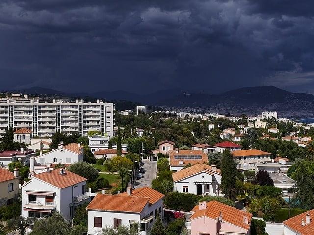 Dark Nimbostratus clouds