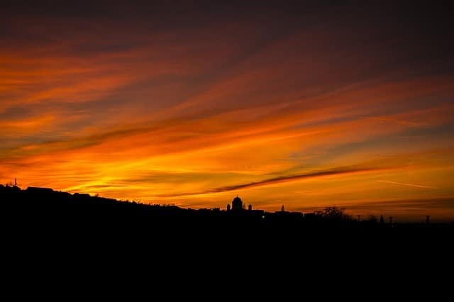 altostratus sunset